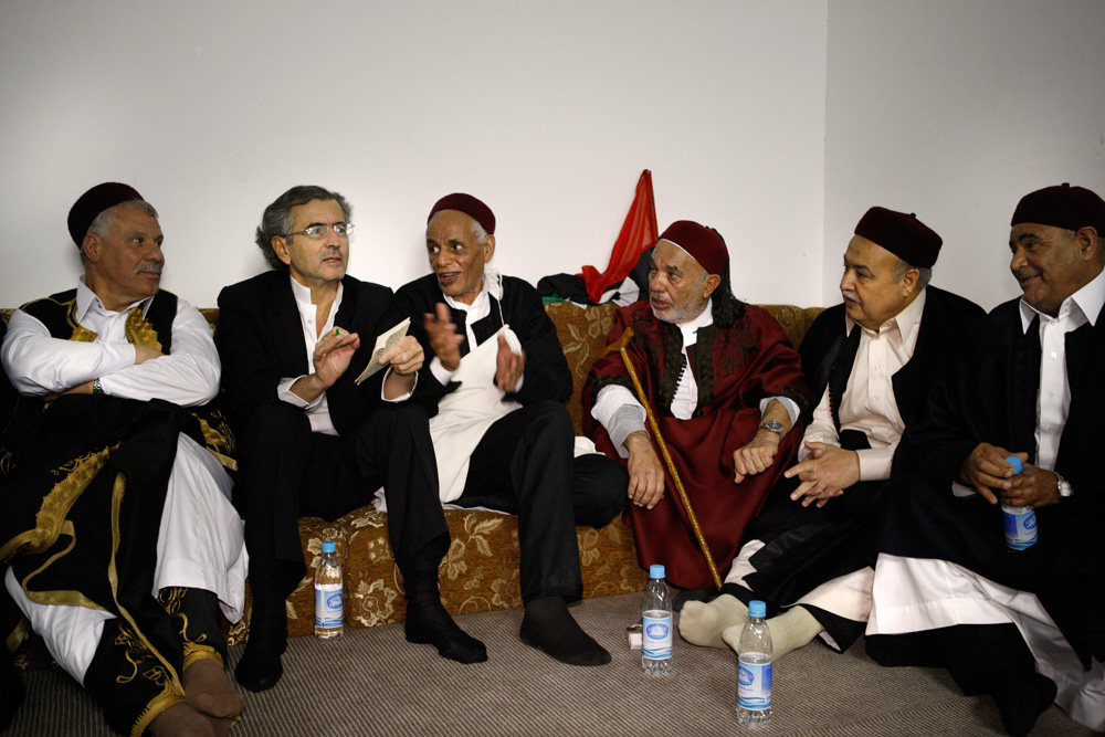 Members of the Libyan Tribal Council meeting in Tripoli