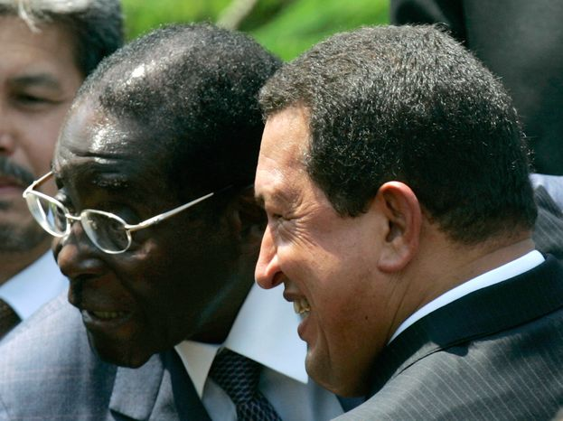"""You, like Bolivar, are and will always be a true freedom fighter. Mugabe continues, alongside his people, to confront the pretensions of new imperialists."" Hugo Chavez on Robert Mugabe – one liberation fighter to another."