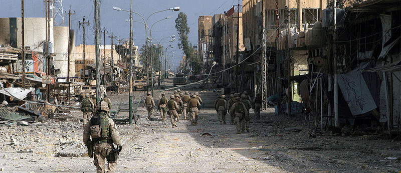 Fallujah in Iraq, destroyed by Nato's stormtroopers in 2004
